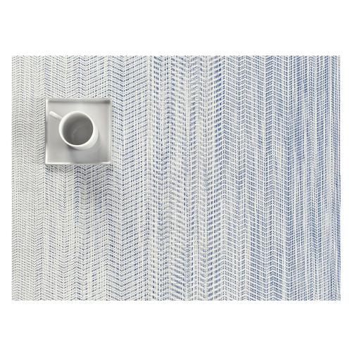 Wave Set of 4 rectangular placemats, W36 x L48cm, Blue