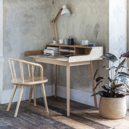 Ashwicke Desk with storage, H90 x W120 x D60cm, Ash
