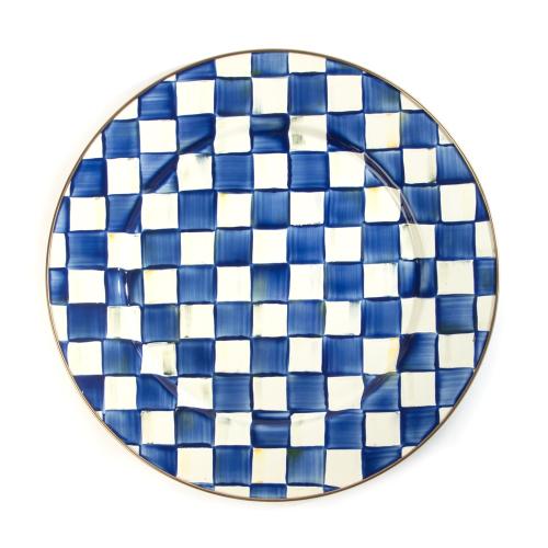 Royal Check Serving platter, 41cm, blue & white