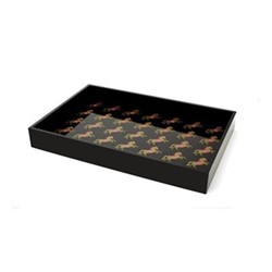 Horse Small acrylic tray, W26 x D17.14cm, black/pink