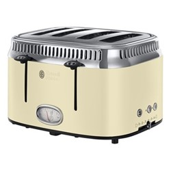 Retro - 21692 Toaster, 4 slice, cream