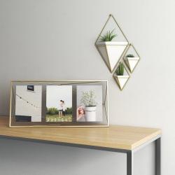Prisma Photo frame, 48 x 23 x 8cm, Matte Brass