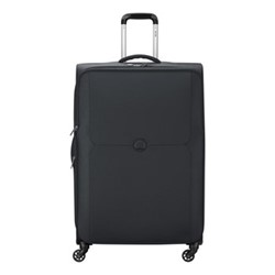 Mercure 4 wheel expandable trolley case, 79cm, black