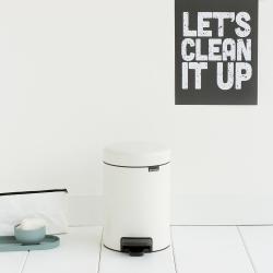 newIcon Pedal bin, 3 litre, White