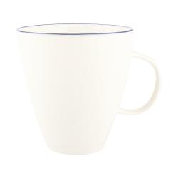 Abbesses Set of 4 mugs, 8.5 x 9.5cm, blue rim