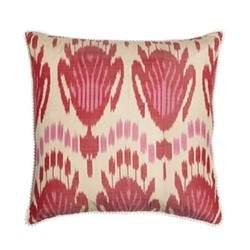 Ikat Cushion, 50 x 50cm, Pink/Red