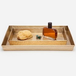 Verum Tray set, antique brass