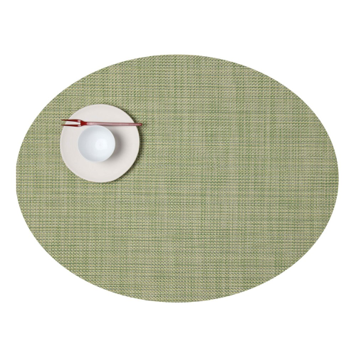 Mini Basketweave Set of 4 oval placemats, 36 x 49cm, Dill