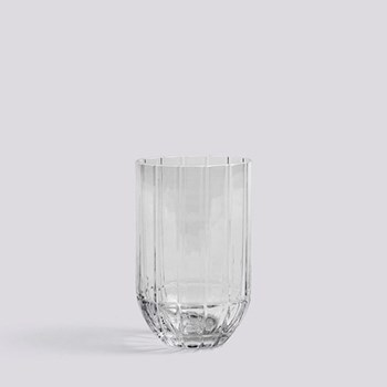 Colour Medium glass vase, H15 x W9.5cm, clear