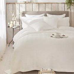 Herringbone Stripe Double bedcover, W240 x L250cm, white