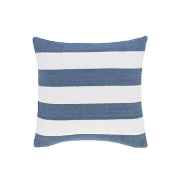 Fresh American - Catamaran Polypropylene indoor/outdoor cushion, 53 x 53cm, denim/white