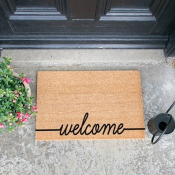 Welcome Doormat , L60 x W40 x H1.5cm