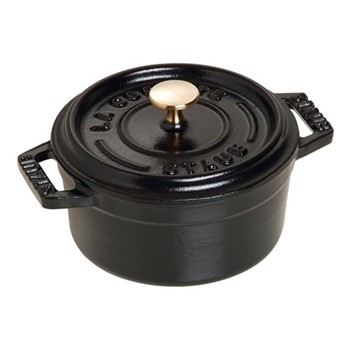 Round cocotte, 26cm, black