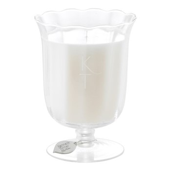 Scented candle in stem vase H17 x D11.5cm