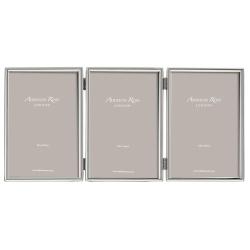 "Fine Triple photograph frame, 4 x 6"", Silver Plate"
