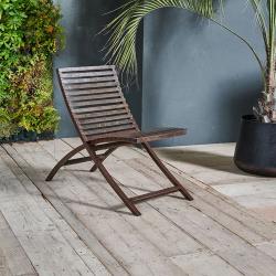 Odee Outdoor lounger, 72.5 x 45 x 89cm, Iron