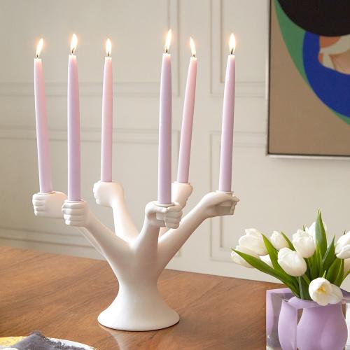 Muse Eve candelabra, 34.29 W x 22.86 Hcm, white