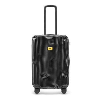 Stripe Medium suitcase, H68 x W45 x D26cm, black