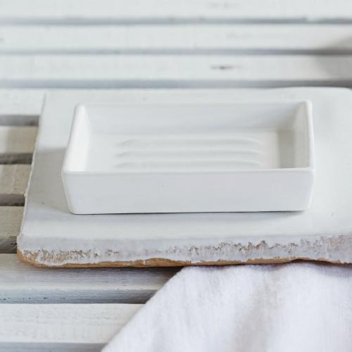 Newcombe Soap dish, L12.5 x W8cm, White Ceramic