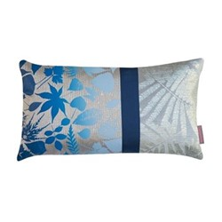 Falling Leaves Cushion, H30 x W50cm, pebble/midnight ombre