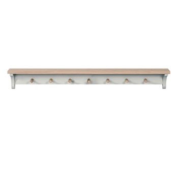 Suffolk Coat rack, W122 x D16 x H15cm, silver birch