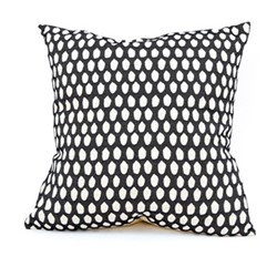 Elca Cushion, 60cm, linen on black