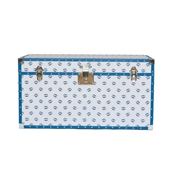 Eye Trunk, L80 x W40 x H42cm, white and blue