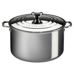 Siganture Uncoated Deep casserole with lid, 20cm, Stainless Steel