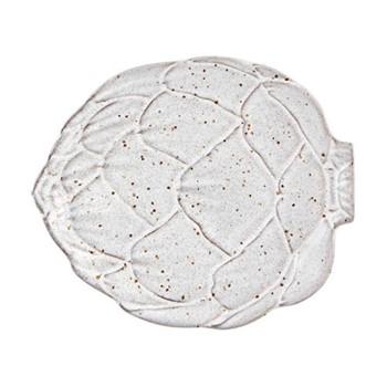Artichoke Set of 4 side plates, 17.5 x 14.8cm, white
