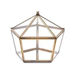 Bequai Large pentagon box, 16 x 19.5 x 19.5cm, antique brass