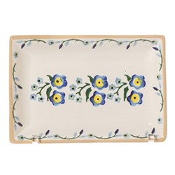Forget Me Not Small rectangular serving dish, L17 x W11.7 x H2.8cm