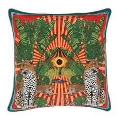 Eye of the Leopard Cushion, L45 x W45cm, orange