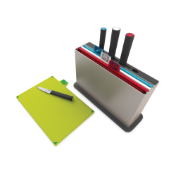 Index Advance Chopping board with knives, Silver