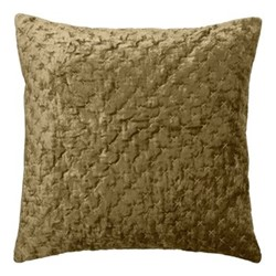 Embroidered Lux Cushion, 50 x 50cm, mustard