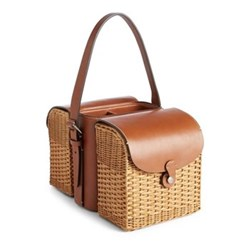 Wine and cheese tote 14 x 9.9 x 16.7