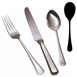 Grecian Salad serving spoon, silver plate