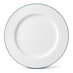 Rainbow Collection Dinner plate, 27cm, teal rim