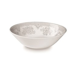 Dove Grey Asiatic Pheasants Cereal bowl, 16cm, grey/white