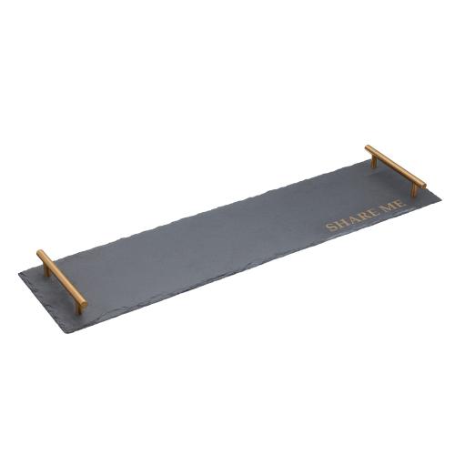 Rectangular platter, W60 x L15 x H3.5cm, Slate