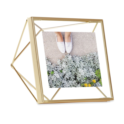 """Prisma Photo frame, 4 x 4"""", matte brass"""