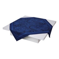 Porcelaine Tablecloth, 120 x 120cm, china blue