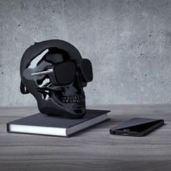 AeroSkull XS+ Bluetooth speaker, H13.3 x W10 x D13.2cm, chrome black