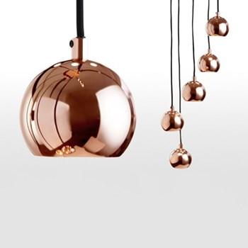 Austin Cluster pendant light, H220 x W26cm, copper