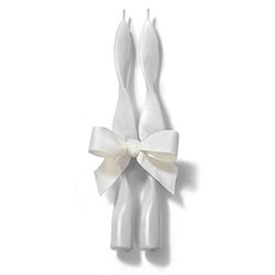 Denise Candle, H23cm, white