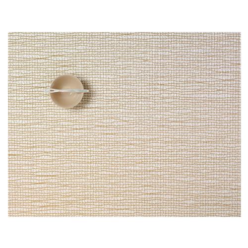 Lattice Set of 4 rectangular placemats, W36 x L48cm, Gold