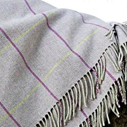 Hollie Macay Merino wool throw, 220 x 155cm