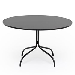 Friday Round dining table, Dia120 x H72cm, black/fenick