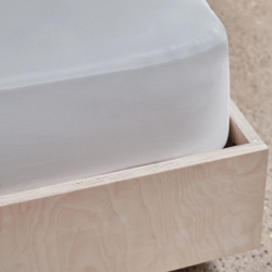 Crisp & Cool Organic - 400 TC Double fitted sheet, W135 x L190 x D40cm, White