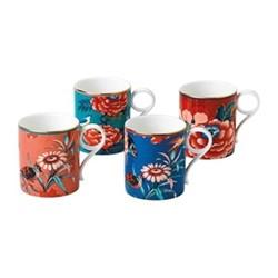 Paeonia Blush Set of 4 small mugs, multi