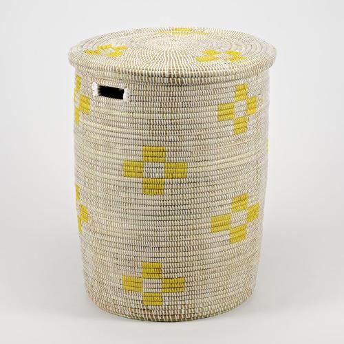 La Brise Medium laundry basket with flat lid, 38 x 33cm, Dawn